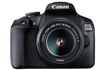 Appareil Photo Reflex Numérique Canon EOS 2000D + 2 Objectifs (18-55mm DC III & 75-300mm II)