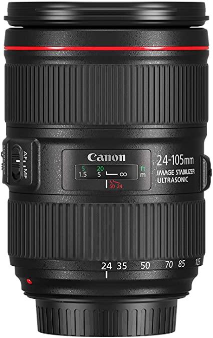 Sélection d'objectifs Canon en promotion - Ex: Objectif EF 24-105mm f/4L IS II USM