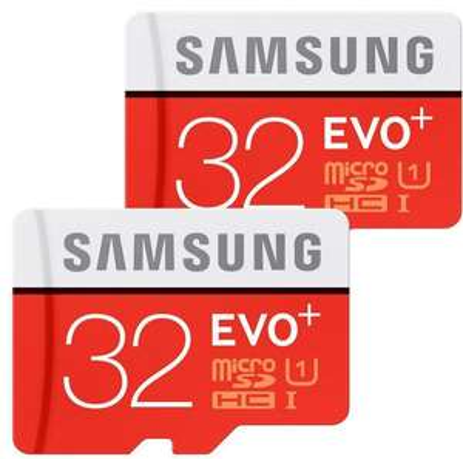 Lot de 2 cartes Micro SDHC Samsung Evo+ - 32 Go