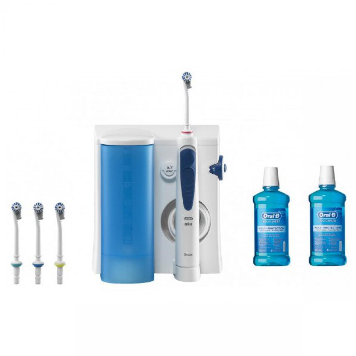 Pack Hydropulseur Oral-B Oxyjet MD20 + 2 bains de bouche Oral B Pro Expert (50cl)