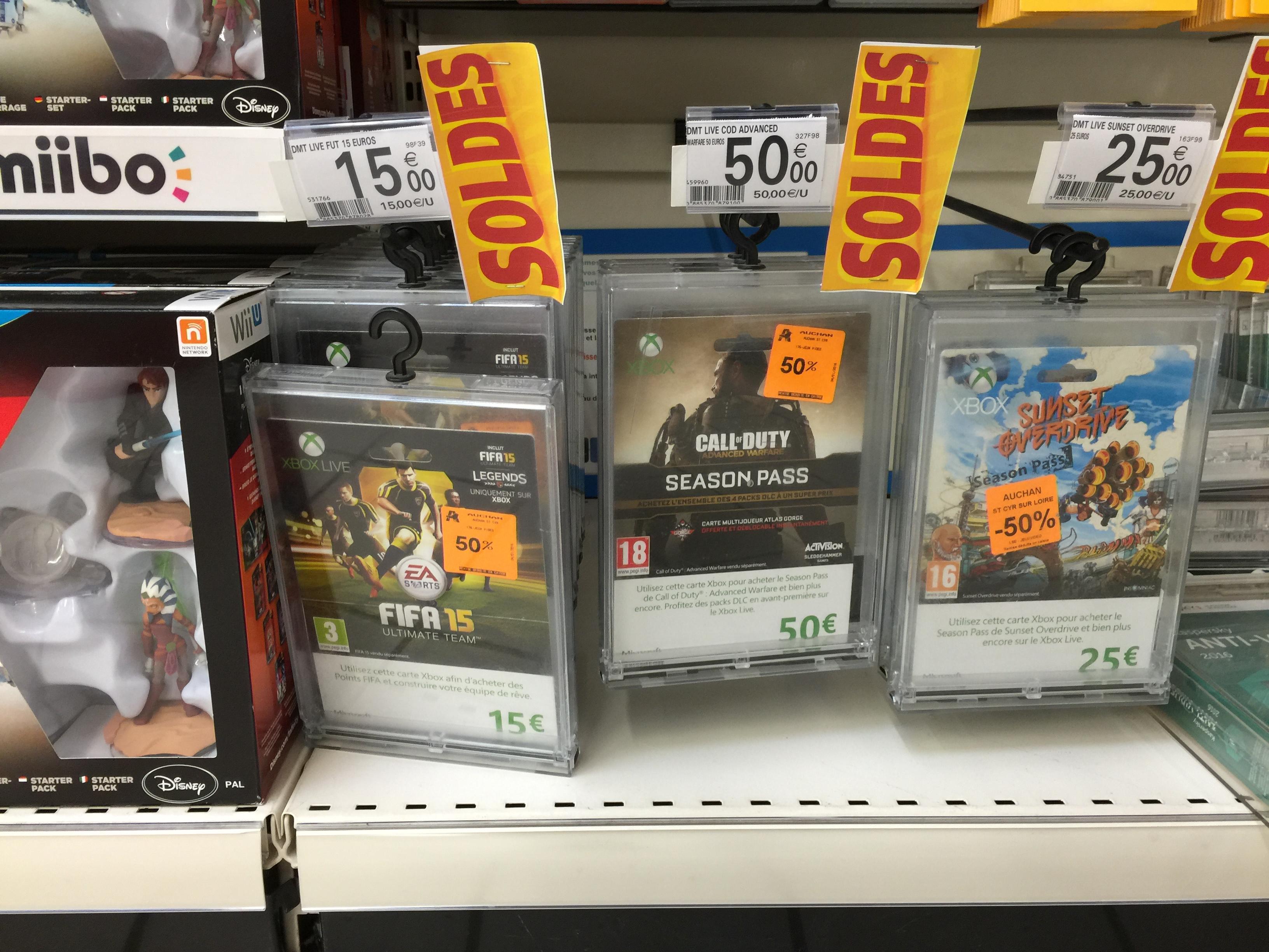 50% de réduction sur une sélection de Cartes Xbox