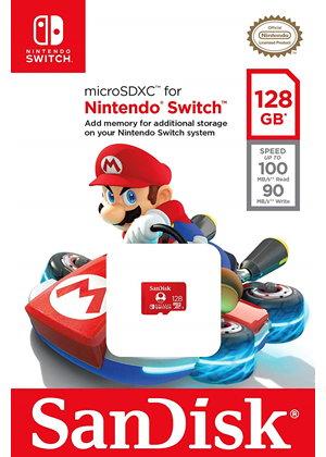 Carte microSDXC SanDisk édition spéciale Nintendo Switch - 128 Go, U1