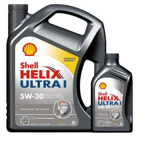 Huile moteur Shell Helix Ultra 5W30 - Essence et Diesel (5L+1L) ou 5W40 - Essence et Diesel (5L+2L) (Via 10,05€ sur la carte)