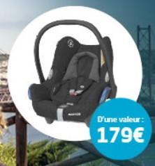 Un siège auto Cosi CabrioFix offert pour l'achat d'une poussette parmi une sélection