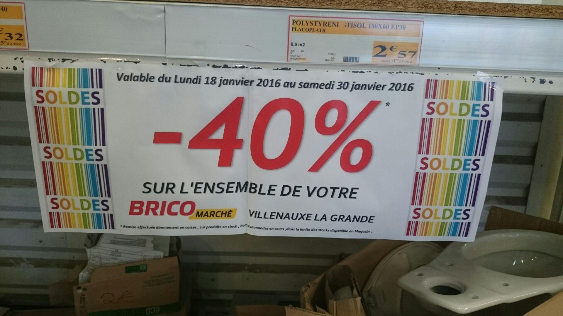 40% de réduction sur tout le magasin avant fermeture