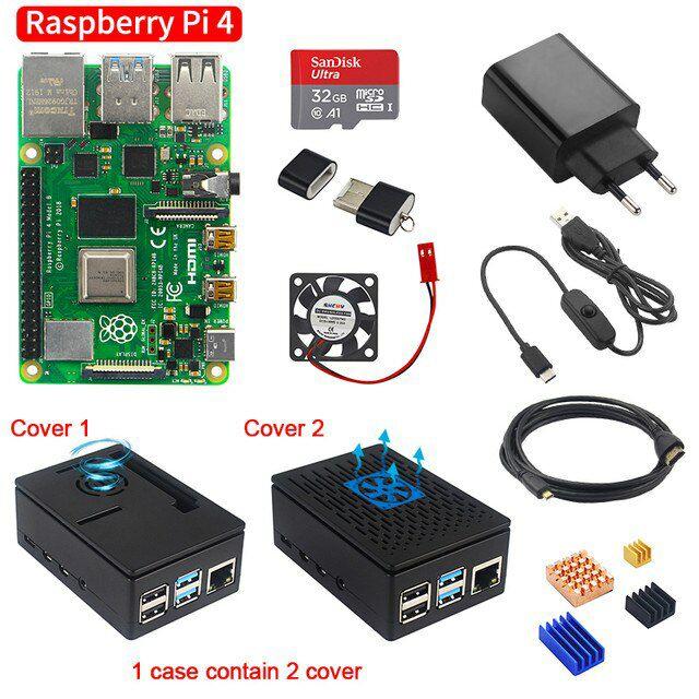 Kit de Démarrage - Carte de Développement Raspberry PI 4 - RAM 2Go, 4Go + Accessoires (51,81€ avec 2020FD7)
