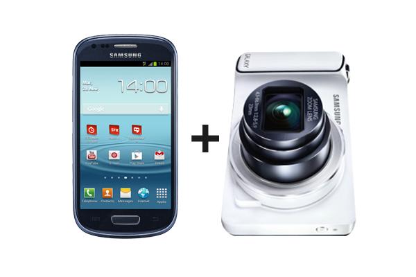 Réservé aux clients SFR : Samsung Galaxy Camera + Samsung Galaxy S3 Mini (Avec ODR de 80€)
