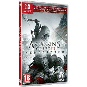 Jeu Assassin's Creed 3 + Assassin's Creed Liberation Remastered sur Nintendo Switch