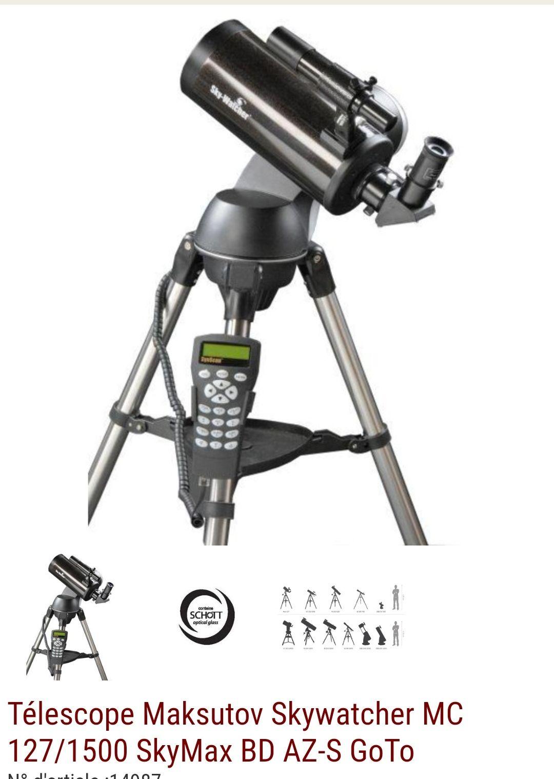 Télescope Maksutov Skywatcher - MC 127/1500, SkyMax BD, AZ-S GoTo (astroshop.de)