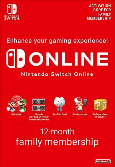 Abonnement familiale 1 an au Nintendo Switch Online (Dématérialisé - frais inclus)