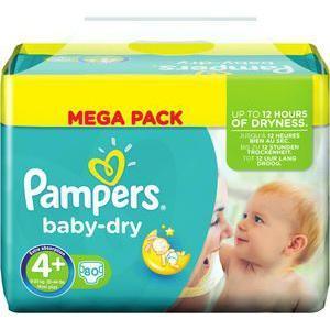 4 Packs de Couches Pampers Active Fit Mega Pack (avec 50% sur la carte  + 20 euros de remise au drive)