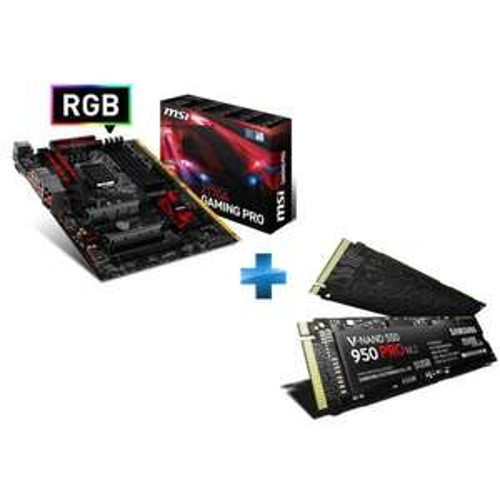 Pack Carte Mère MSI Z170A Gaming Pro + SSD interne Samsung NVme 950 Pro 256 Go M2 (25€ ODR)