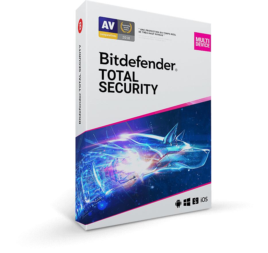 License Bitdefender Total Security 2020 - 5 appareils / 1 an (Dématérialisé)