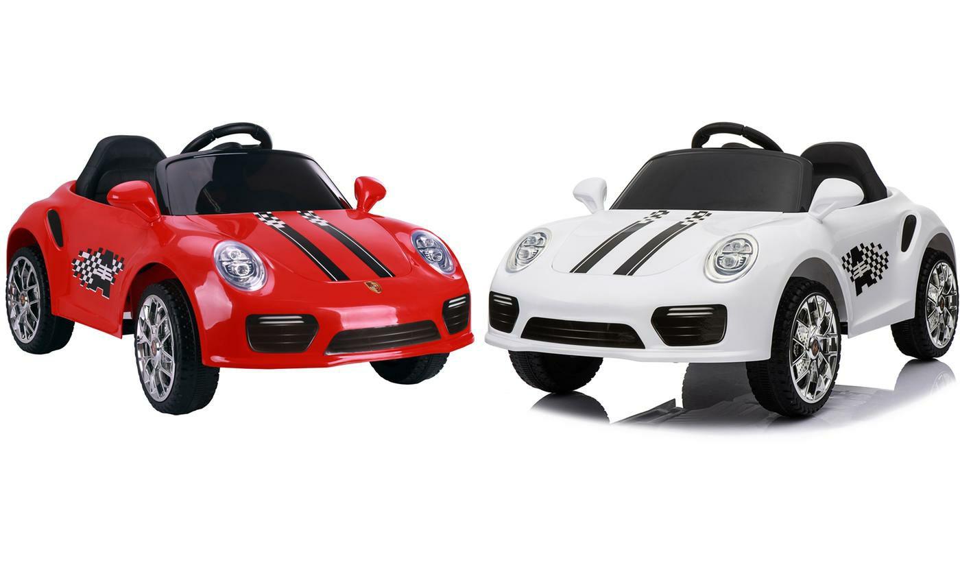 Voiture de sport électrique 12 V pour enfant - Blanc ou Rouge