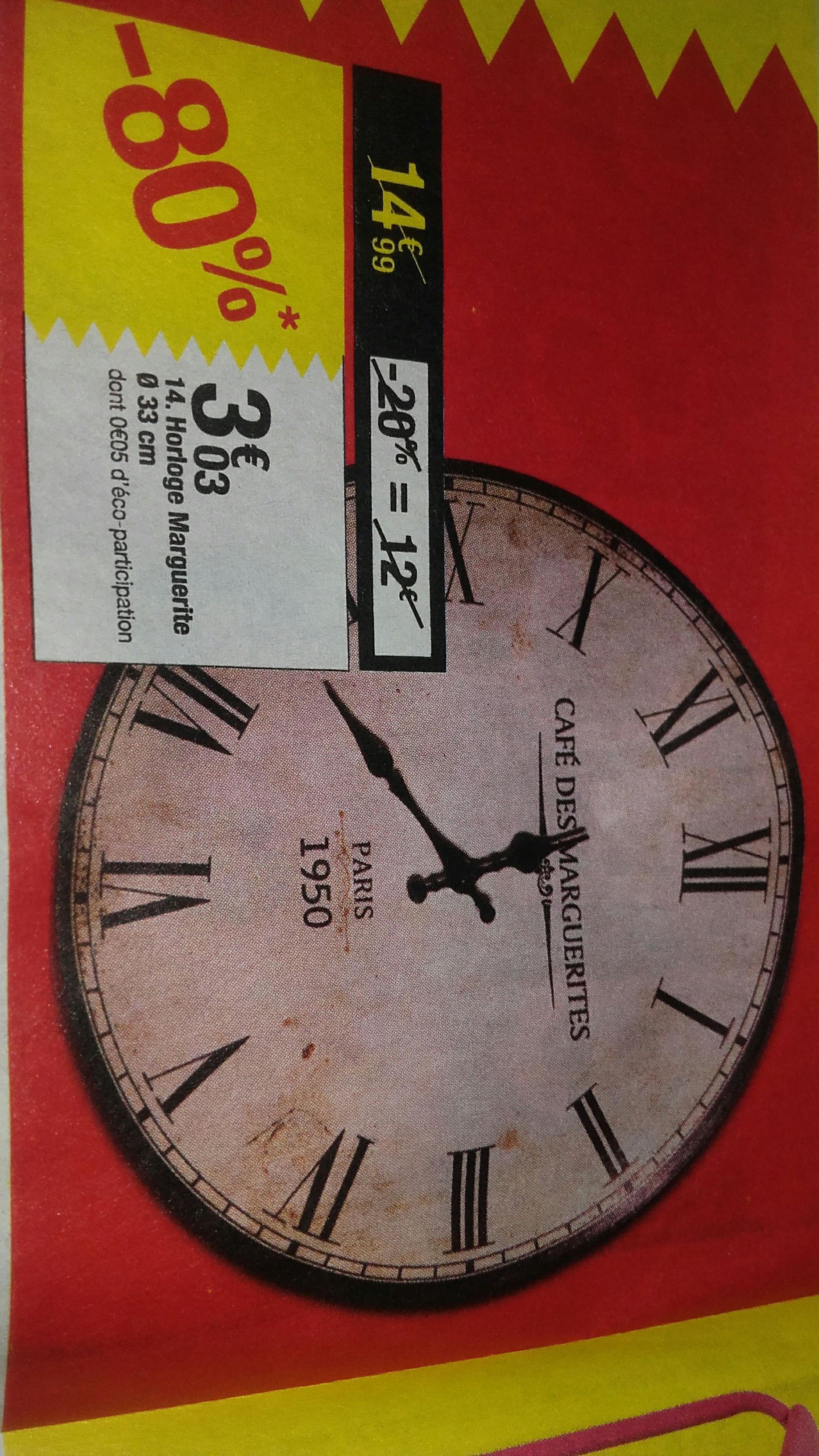 Horloge marguerite - 33cm