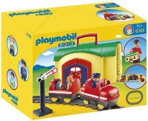Train playmobil 6783 avec gare transportable