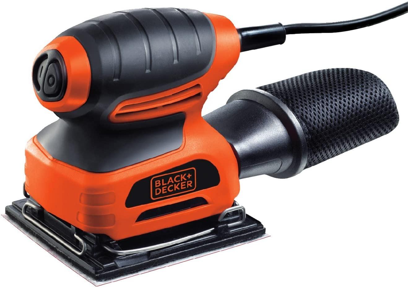 Ponceuse vibrante Black+Decker KA400-QS - Feuille 1/4, 220W, Sac à poussières et Abrasif inclus