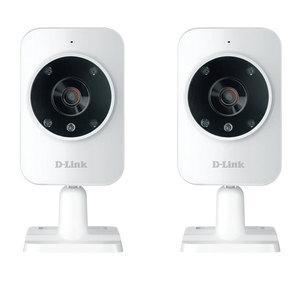 Pack de 2 caméras IP DCS-935L - HD, Wi-Fi, Vision nocturne, Blanc