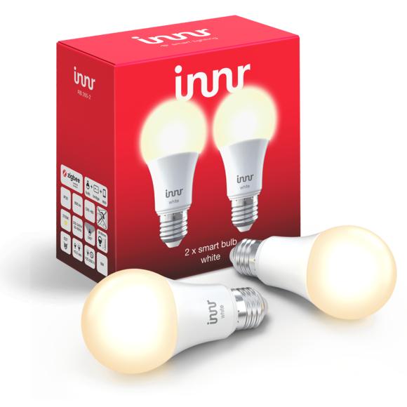 Pack de 2 Ampoules LED 9W/60W connectées INNR - Zigbee 3.0, Compatible Philips Hue