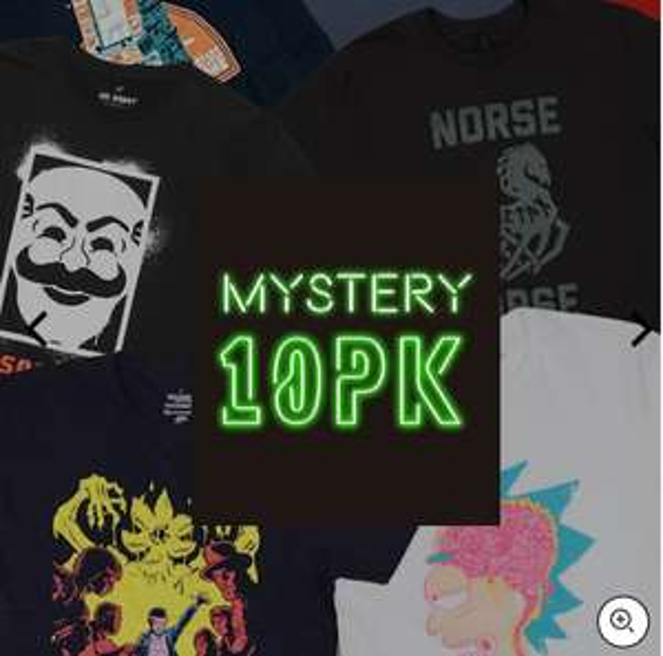 Lot de 10 T-Shirt Geek Mystère + 1 Figurine Pop! Vinyl offerte