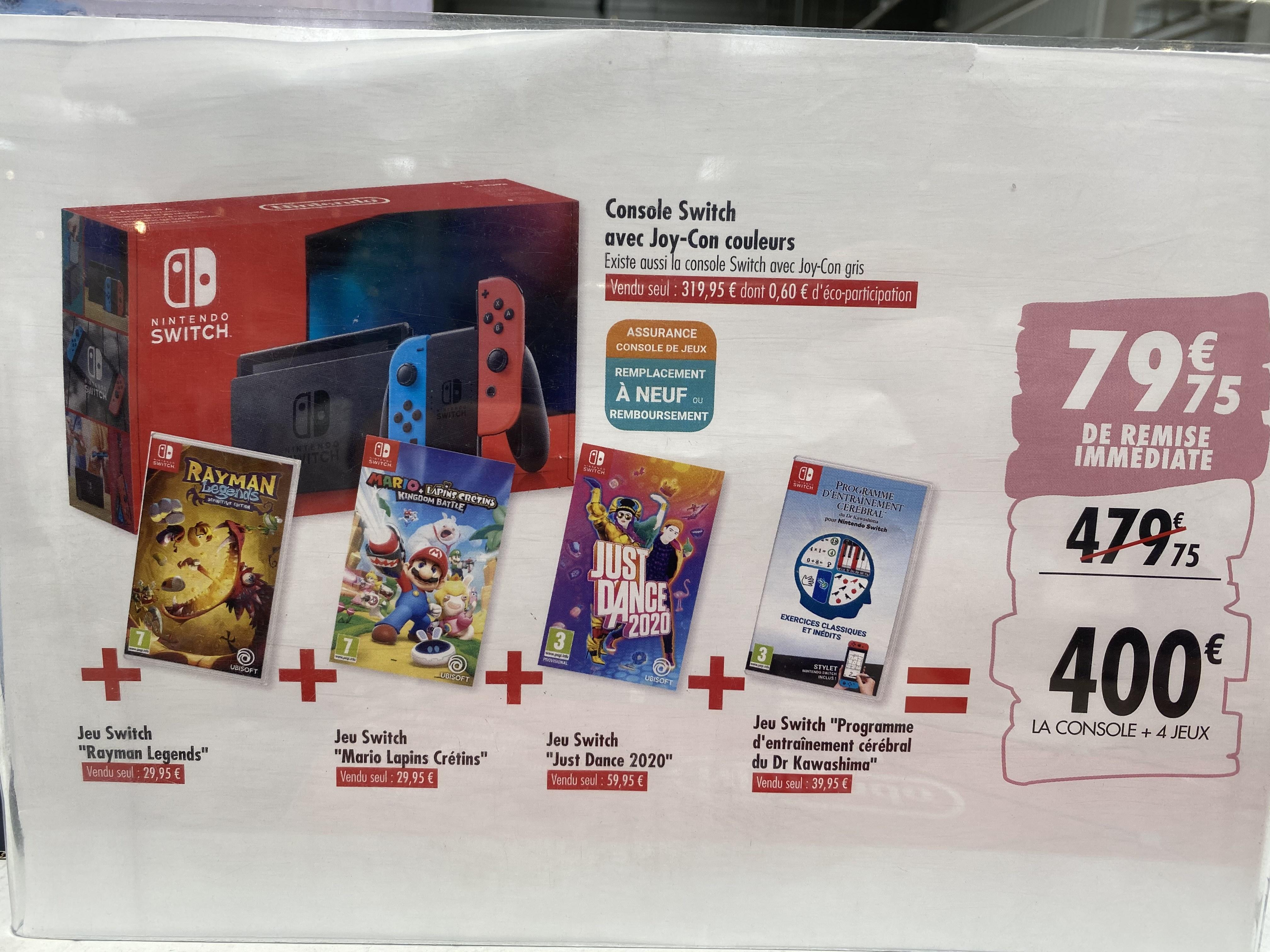 Pack Console Nintendo Switch + 4 jeux - Purpan (31)