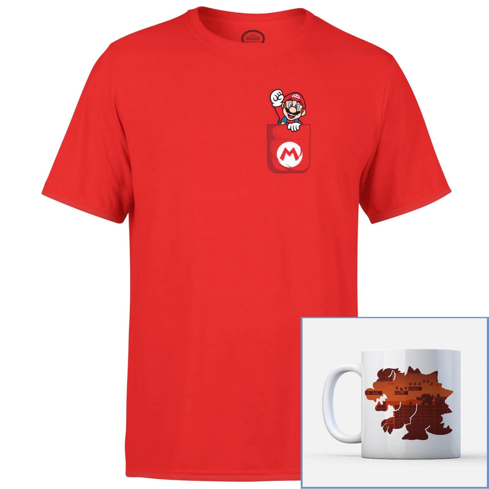 Pack Nintendo T-Shirt (Hommes & Femmes, du S au XXL) + Mug officiel - Ex : T-Shirt Mario + Mug Bowser + livraison offerte
