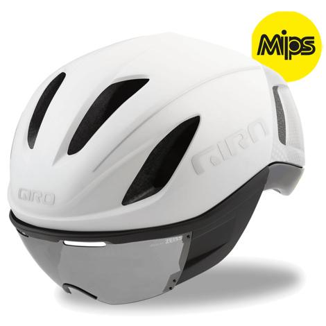 Casque vélo MIPS Aero avec Visière Giro Vanquish - noir ou blanc, tailles au choix