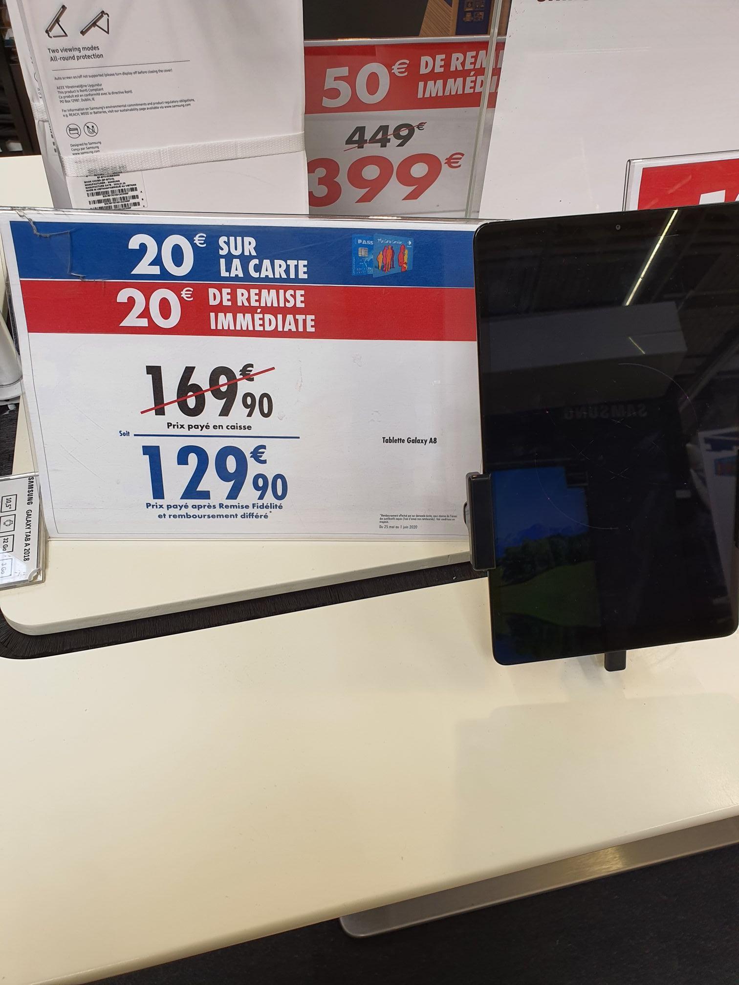 """Tablette Tactile 8"""" Samsung Galaxy Tab A - WiFi, 2 Go de RAM, 32 Go (Via 20€ sur la Carte de Fidélité) - Aulnay-sous-Bois (93)"""