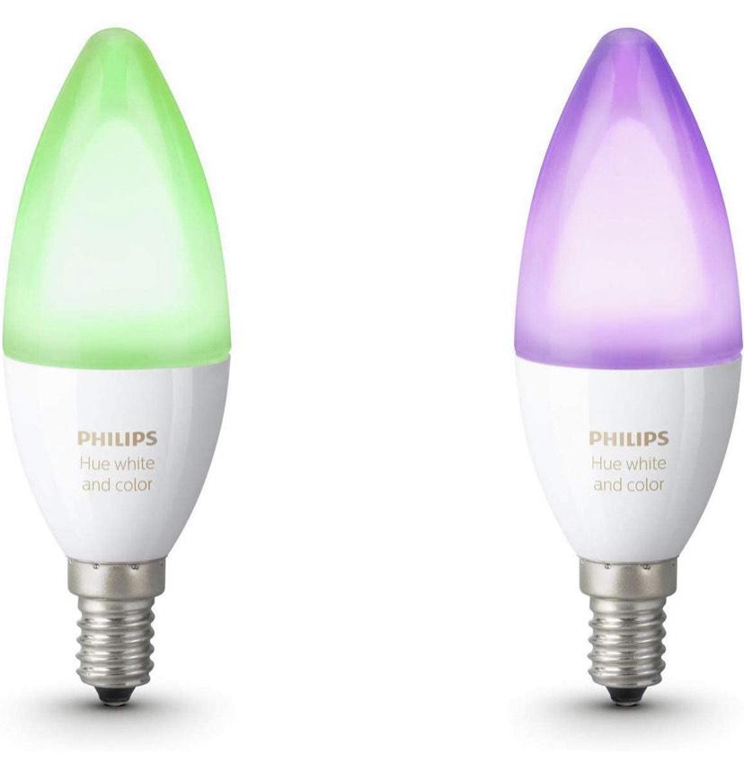 Lot de 2 Ampoules Connectées Philips Hue White and Color - E14