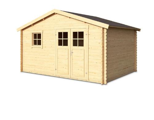 Abri de jardin en bois - 10.20 m², ép.34 mm