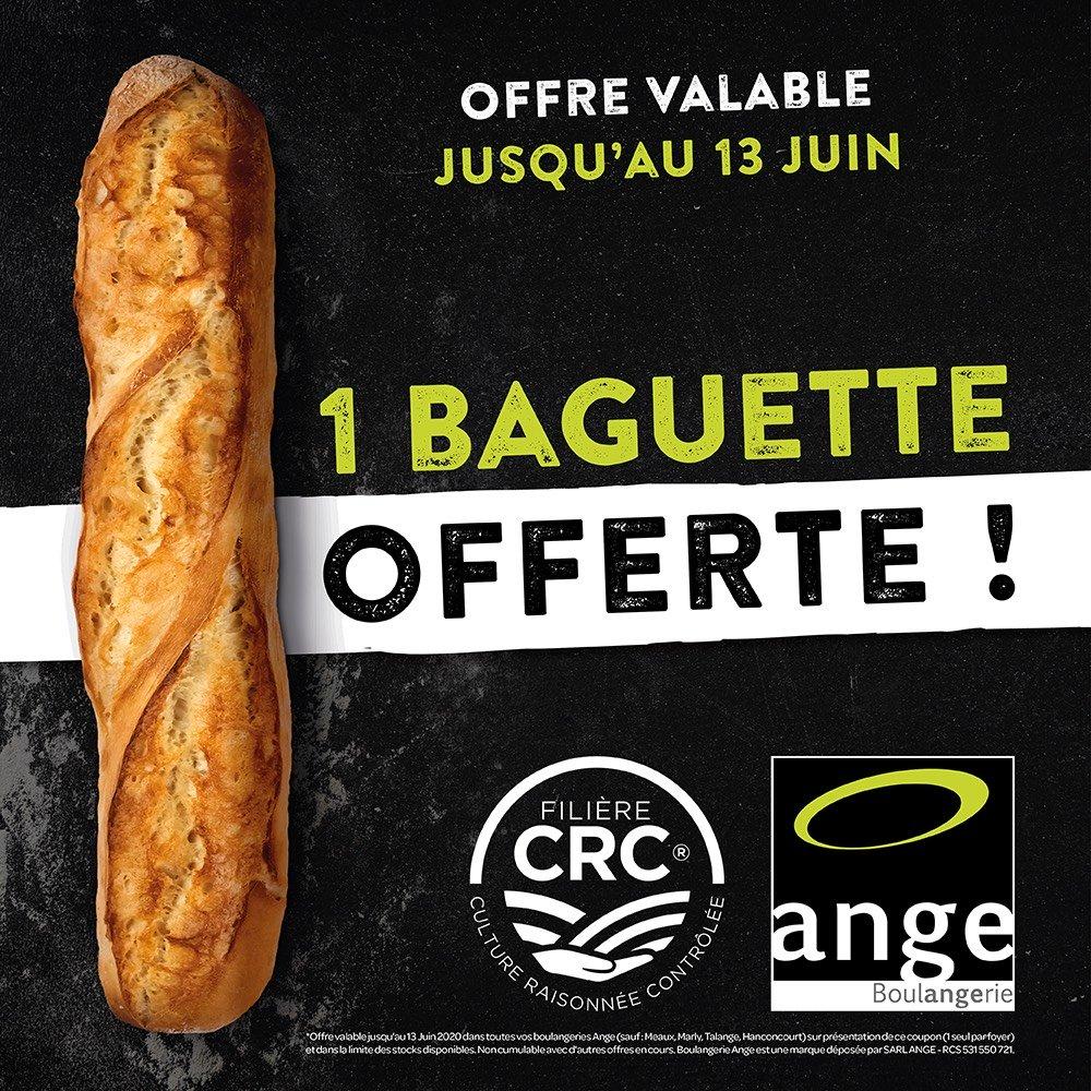 Baguette offerte sur simple visite - Boulangerie Ange