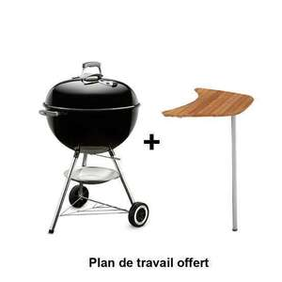 Barbecue au charbon de bois Weber Classic Kettle - 57cm + Plan de travail