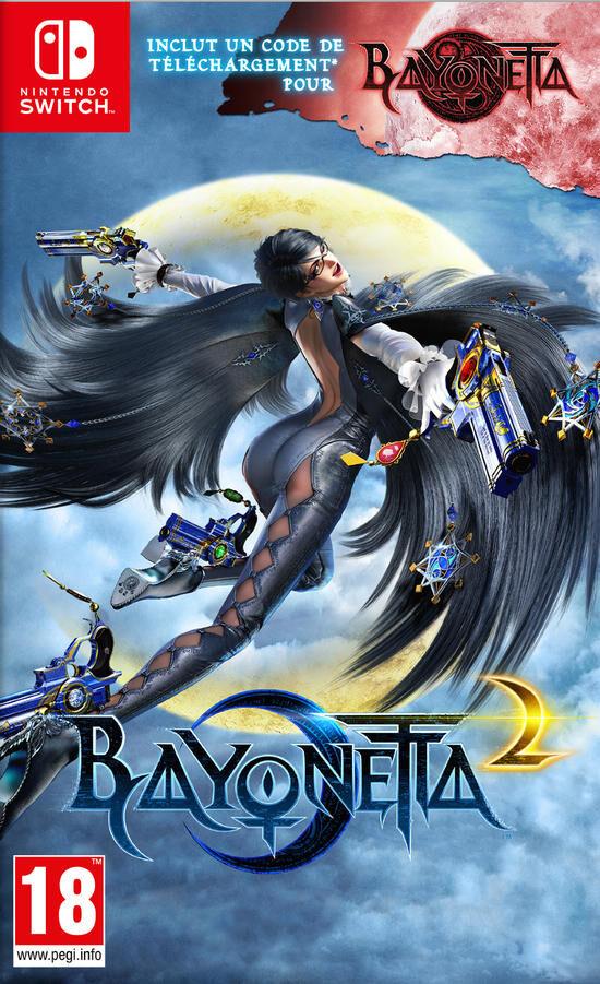 Jeu Bayonetta 2 + Bayonetta 1 (Dématérialisé) sur Nintendo Switch (Retrait magasin uniquement)