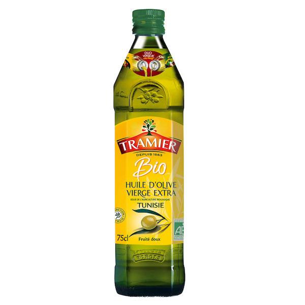 Huile d'Olive Extra Vierge Bio Tramier - 75 cl (Via 1€ d'ODR)