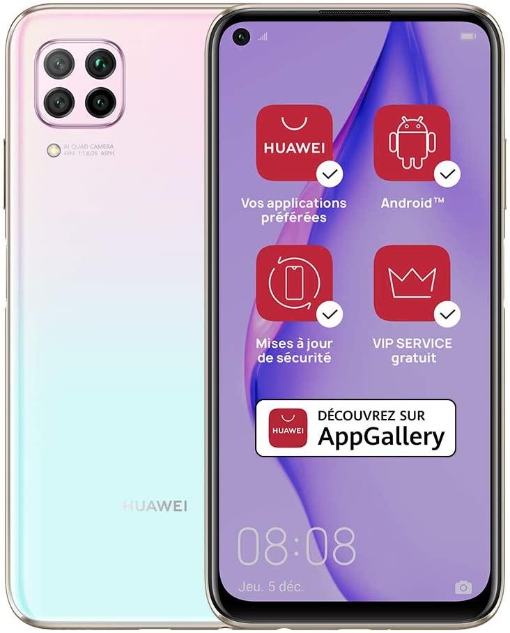 """Smartphone 6,4"""" Huawei P40 Lite - 6 Go RAM, 128 Go ROM (Sans Services Google)"""