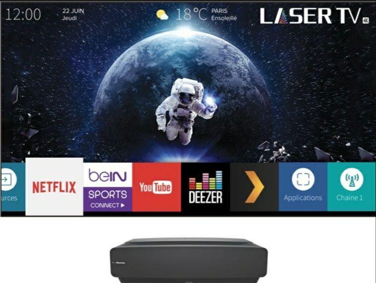 "Vidéoprojecteur Hisense Laser DLP 4K + Ecran 80"" (Via ODR 500€)"