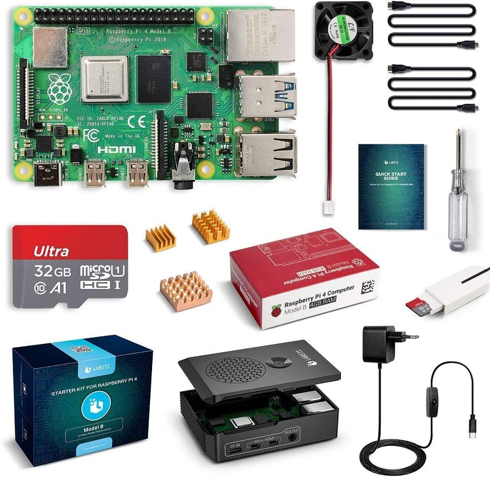 Kit de démarrage Raspberry PI 4 (Modèle B - V1.2) - 4 Go RAM (vendeur tiers)