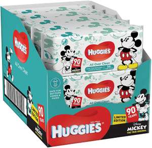 Lot de 560 Lingettes pour bébé Huggies All Over Clean - Motif Disney, 10x56