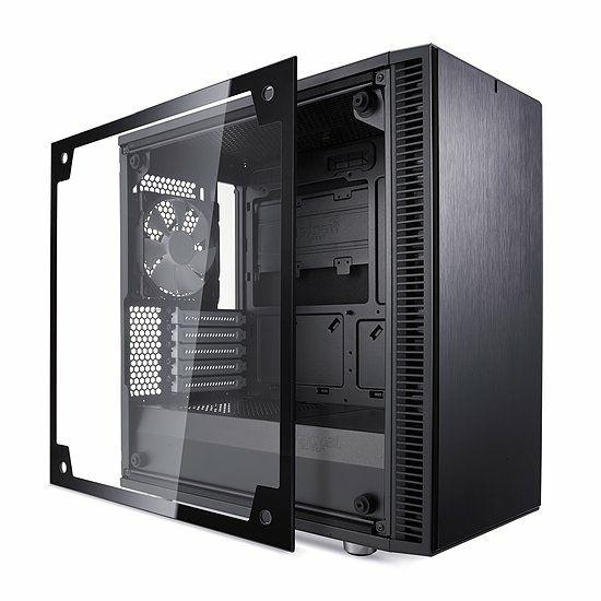 Boitier Moyenne tour PC Fractal Design Define Mini C Black TG - Panneau latéral en verre trempé