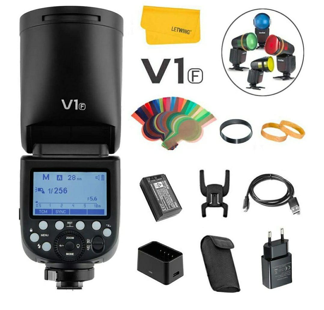 Flash Godox V1 pour appareil photo Fujifilm (également disponible pour Canon & Sony)