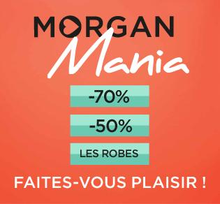 Morgan Mania jusqu' à - 70 % sur une sélection d' articles