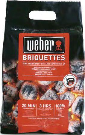 Sac de briquettes de charbon de bois Weber - 3 Kg