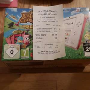 Console Nintendo 2DS Rouge/Blanc + Animal Crossing
