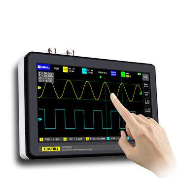 """[Pré-commande] Oscilloscope tactile 7"""" Daniu ADS1013D - 2 canaux 100 MHz, 1 GSa/s"""