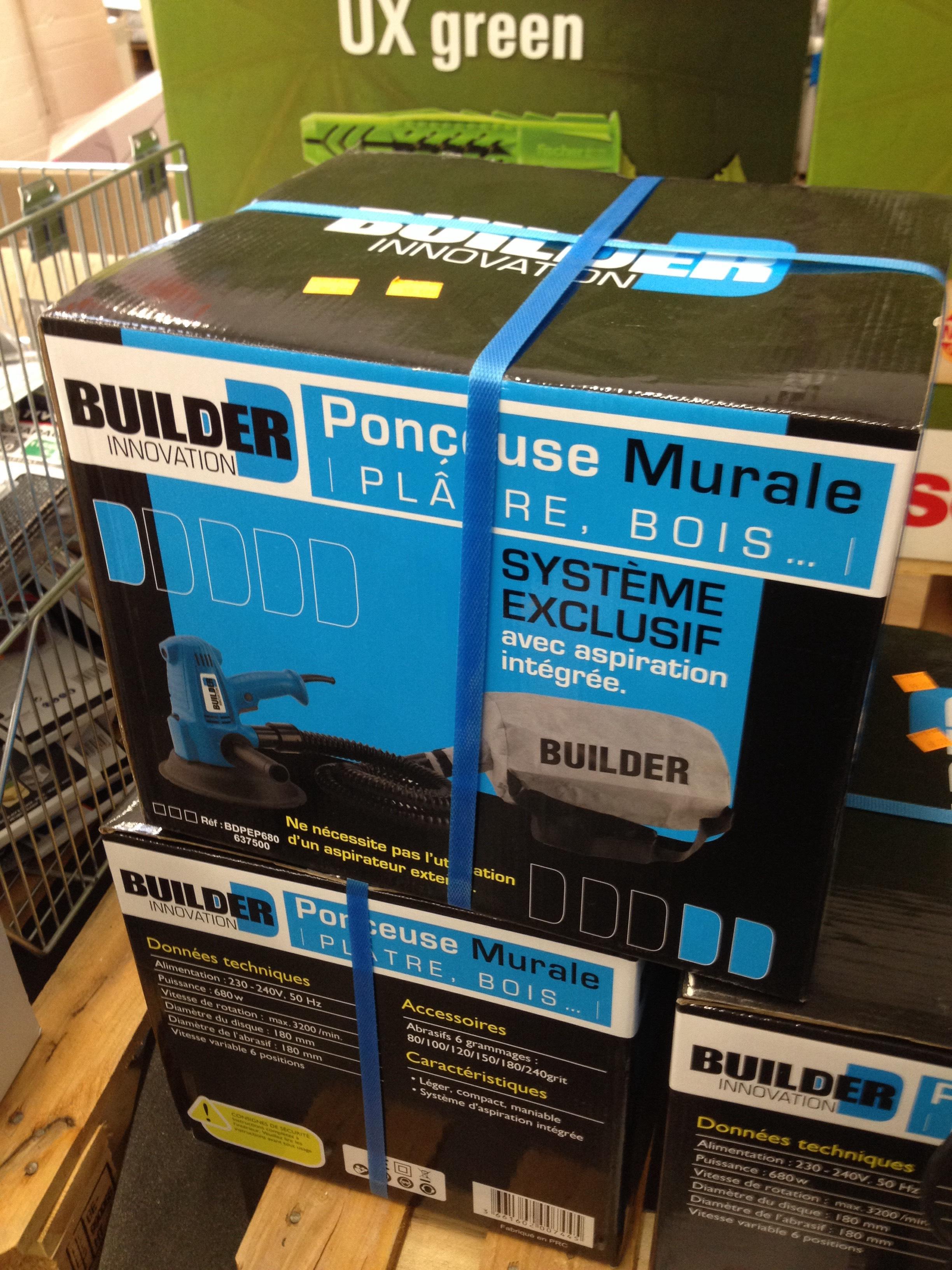 Ponceuse excentrique à plâtre Builder Innovation - Vitesse 1,000-3,000 tr/min 680 W
