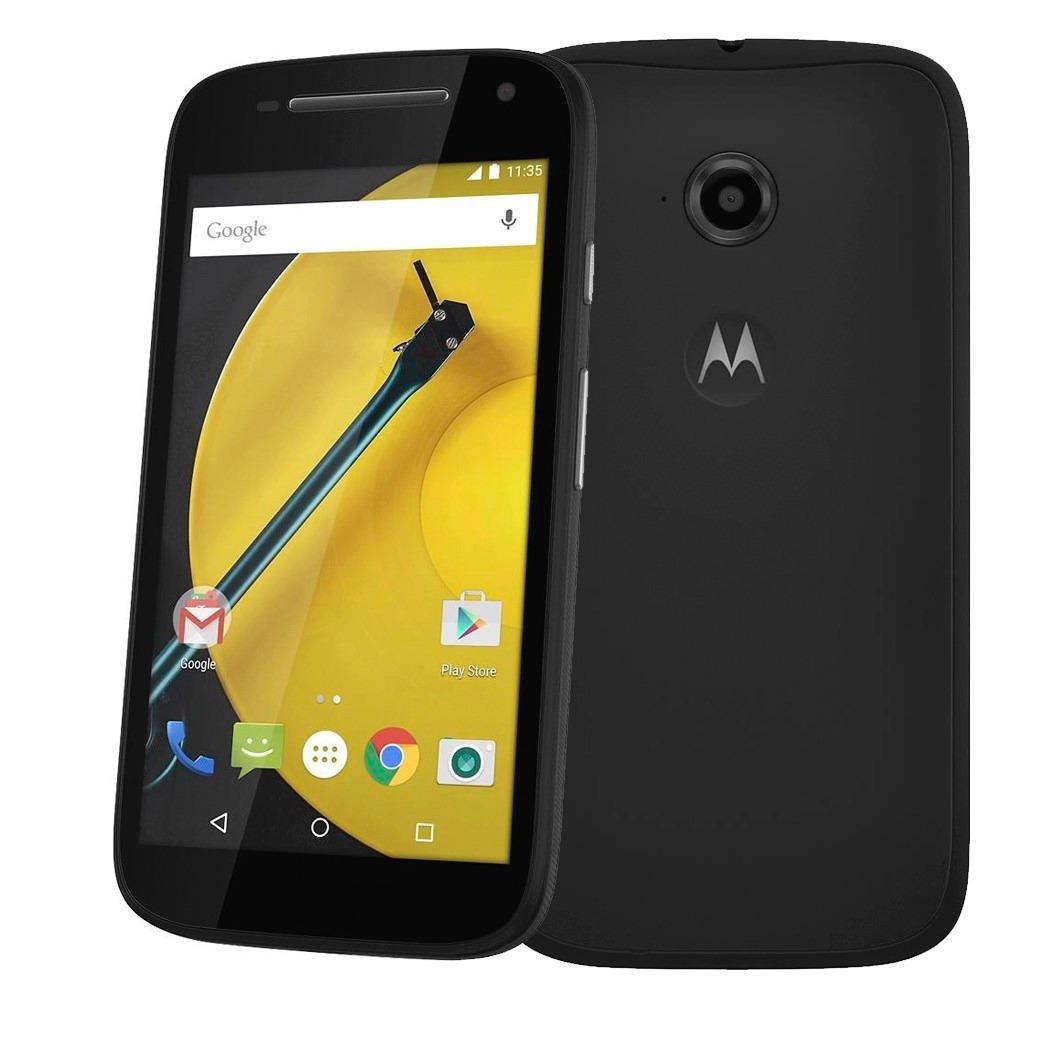 "Smartphone 4,5"" Motorola Moto E 4G Noir + 2 cerclages interchangeables (via ODR de 20€)"