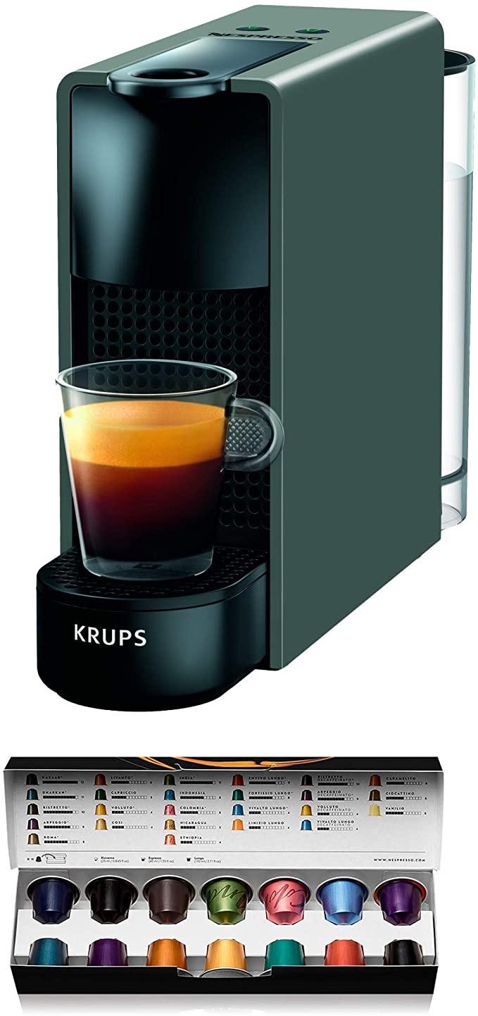 Machine à café Nespresso Krups Essenza Mini XN1108 - 1260W, Gris