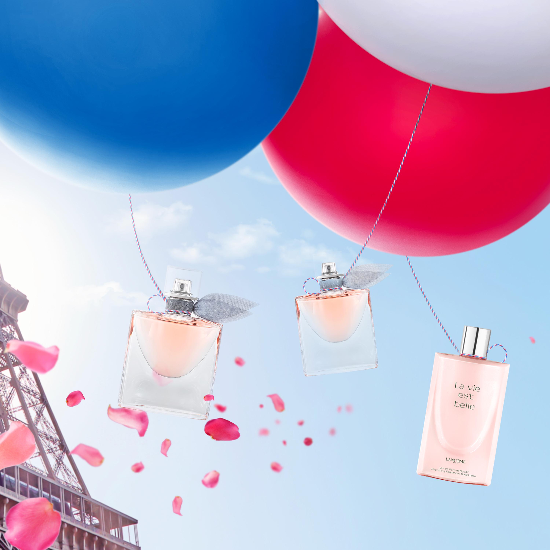 Eau de Parfum La Vie est Belle 50ml + Brume pour Cheveux + Lait de Parfum