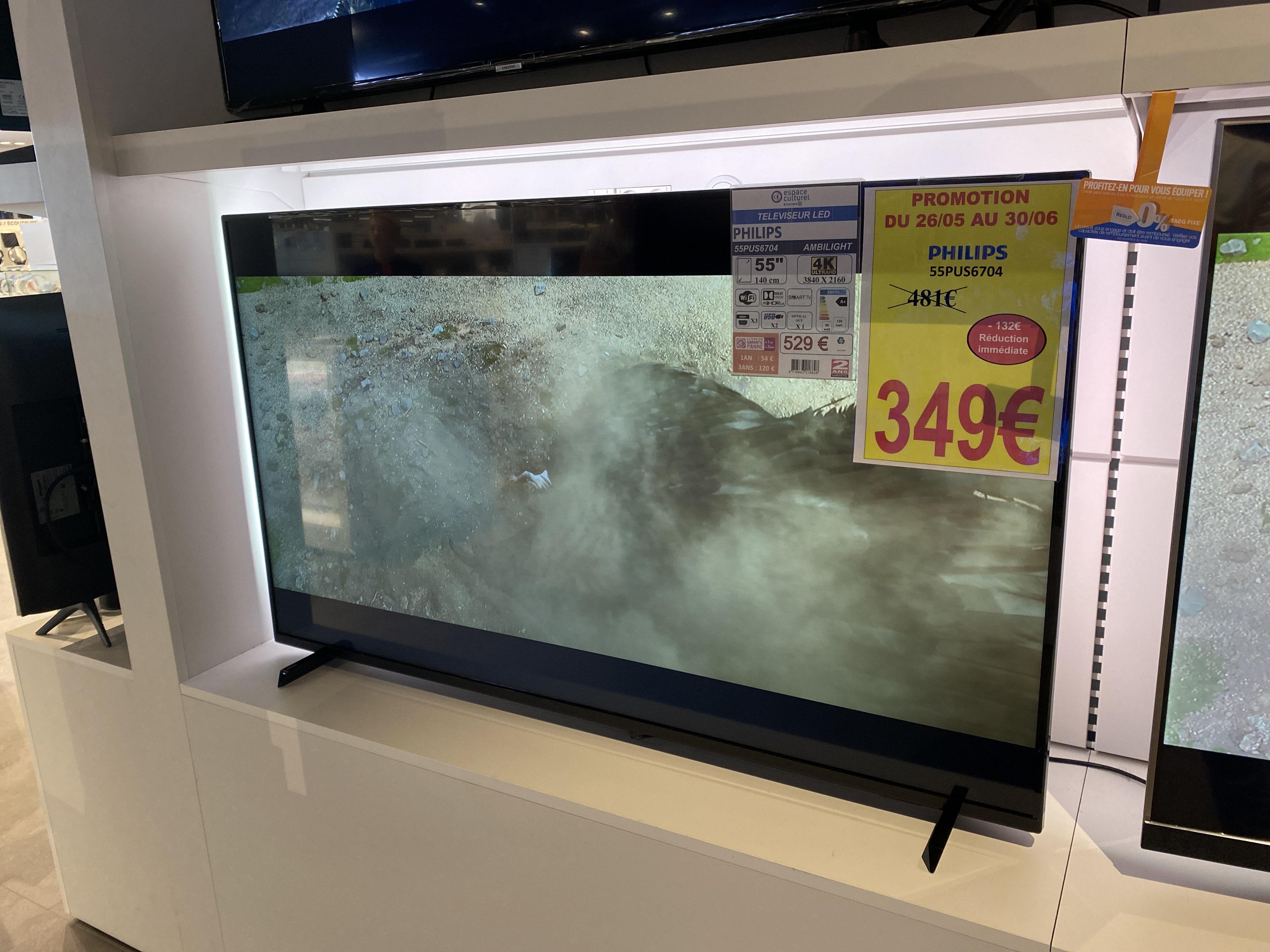 """TV 55"""" Philips 55PUS6704 - 4K UHD, LED, Smart TV, Ambilight 3 côtés, Dolby Vision - Bellerive-sur-Allier (03)"""