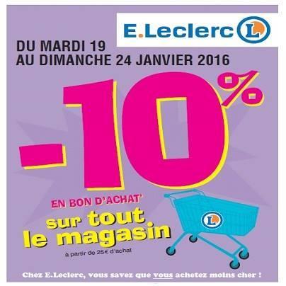 10% offerts en bon d'achat dès 25€ d'achat